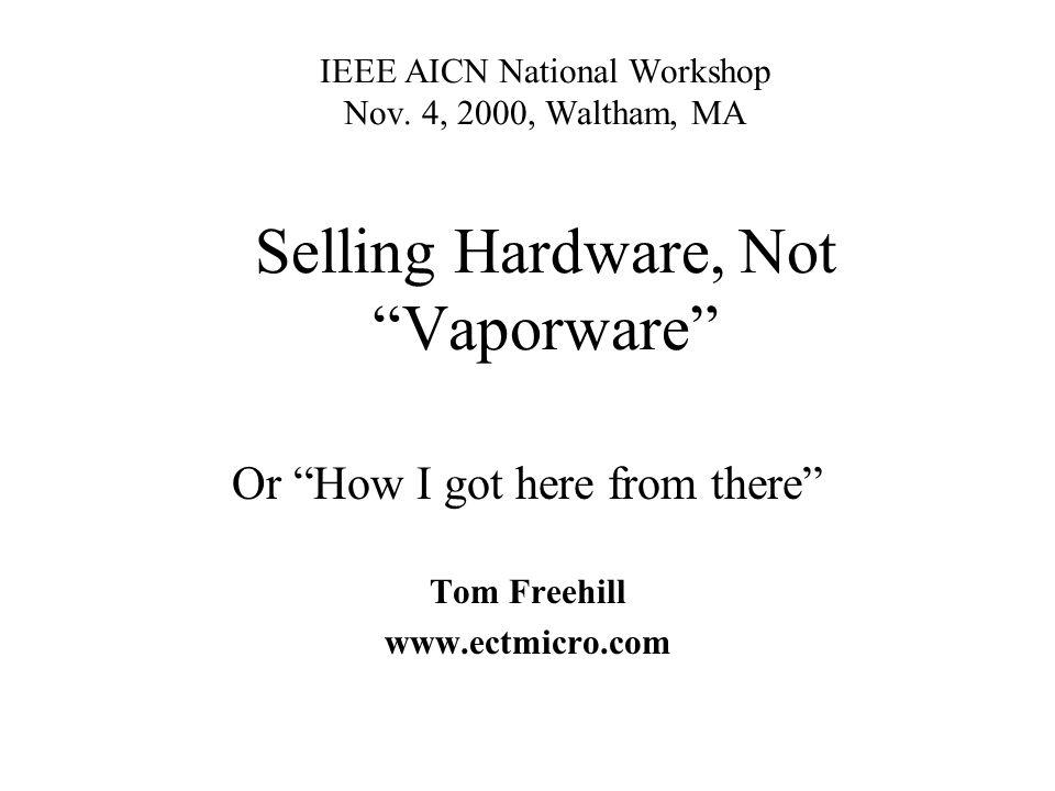 IEEE AICN National Workshop Nov.