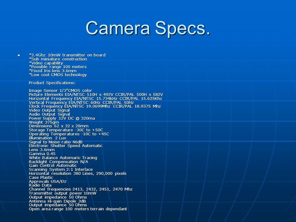 Camera Specs.