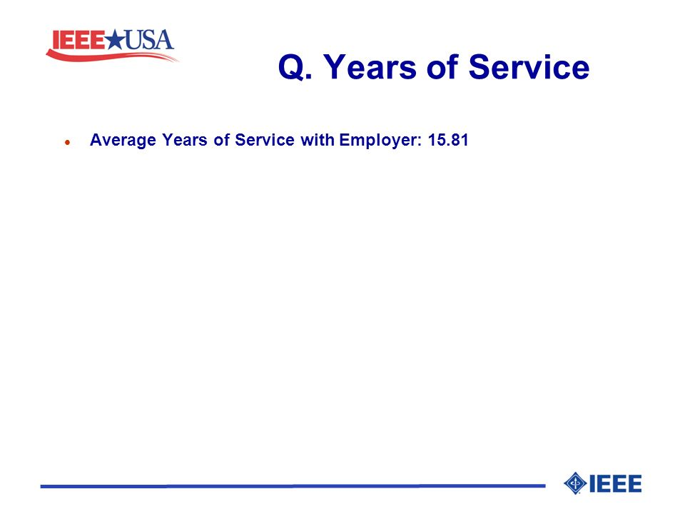 Q. Years of Service l Average Years of Service with Employer: 15.81
