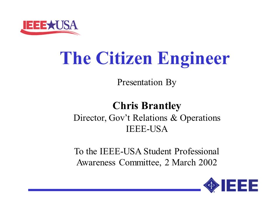 Being a Citizen Engineer Implies Recognizing and Acting On Professional Responsibilities Public Responsibilities Enlightened Self Interest