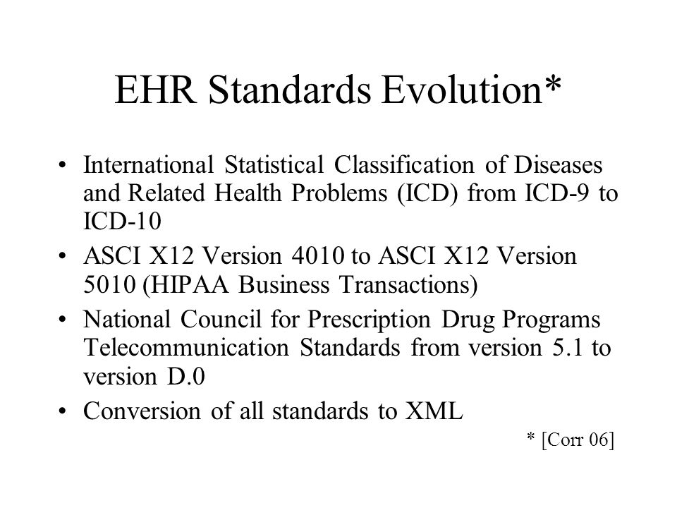 Personal Health Record Lifetime Full PHR Prenatal and Pediatric Records Medicare Records Employer and Self Insurance Carrier Records Military and VA Records Research Records Public Health Records Anonymized Links with Trusted Reverse Channel Environmental Records Genomic Records Links Death Certificate and Autopsy Records