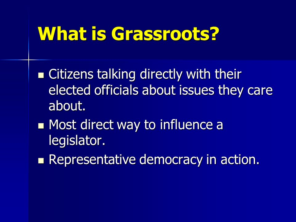 What is Grassroots.