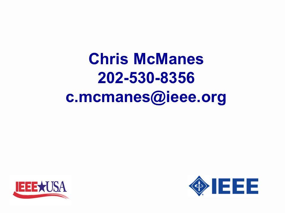 Chris McManes 202-530-8356 c.mcmanes@ieee.org