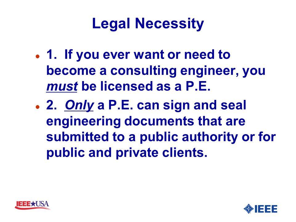 Legal Necessity l 1.
