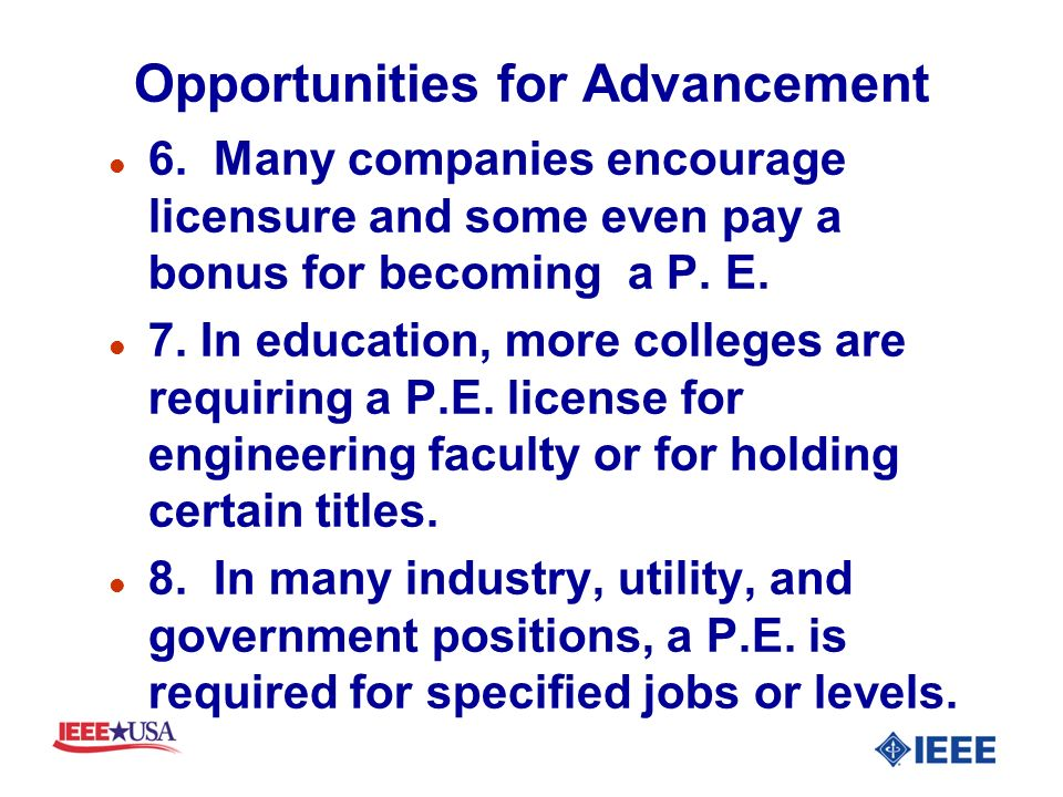 Opportunities for Advancement l 6.
