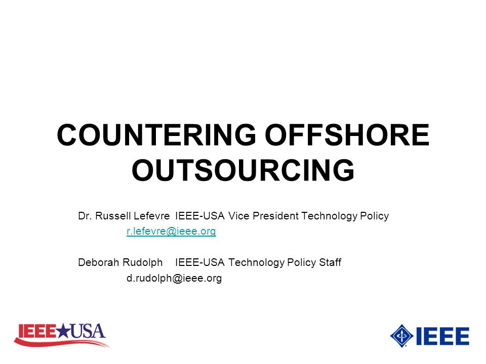 COUNTERING OFFSHORE OUTSOURCING Dr.