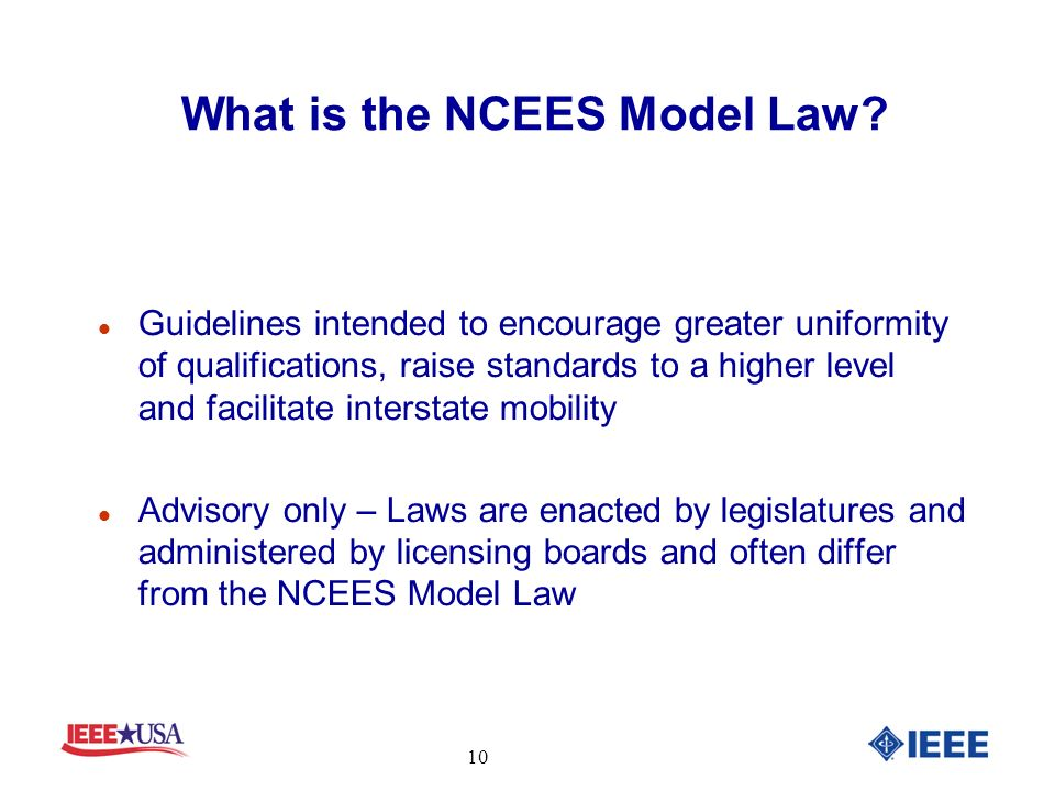 What is the NCEES Model Law.