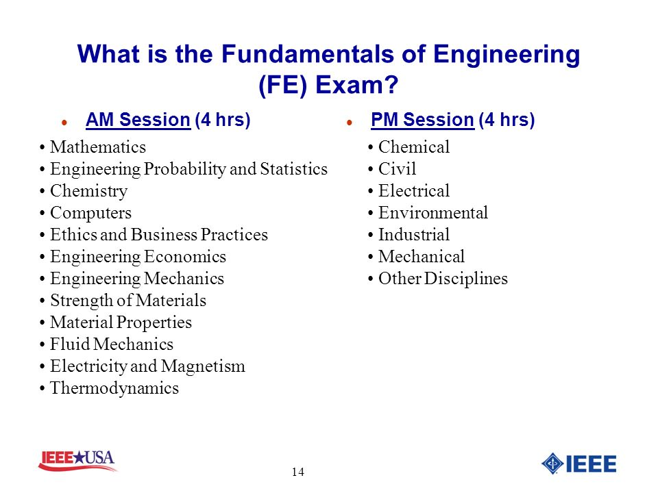 What is the Fundamentals of Engineering (FE) Exam.