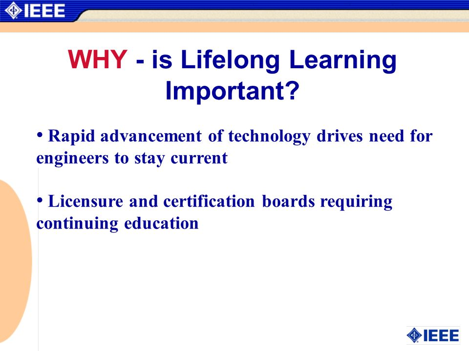 WHY - is Lifelong Learning Important.