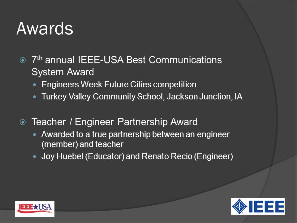 Summary Future generations must be technologically and scientifically literate IEEE-USA has an important role to play in making this happen