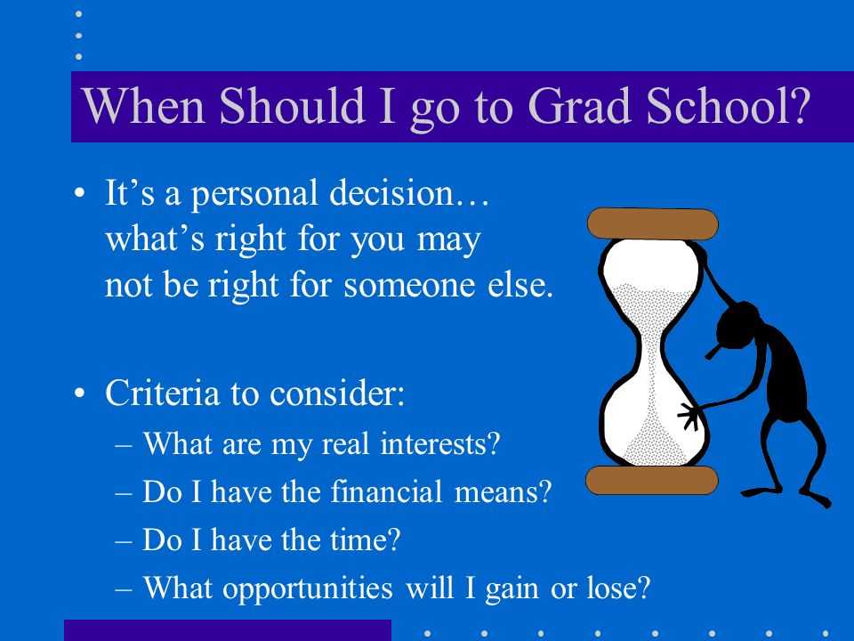 When Should I go to Grad School.