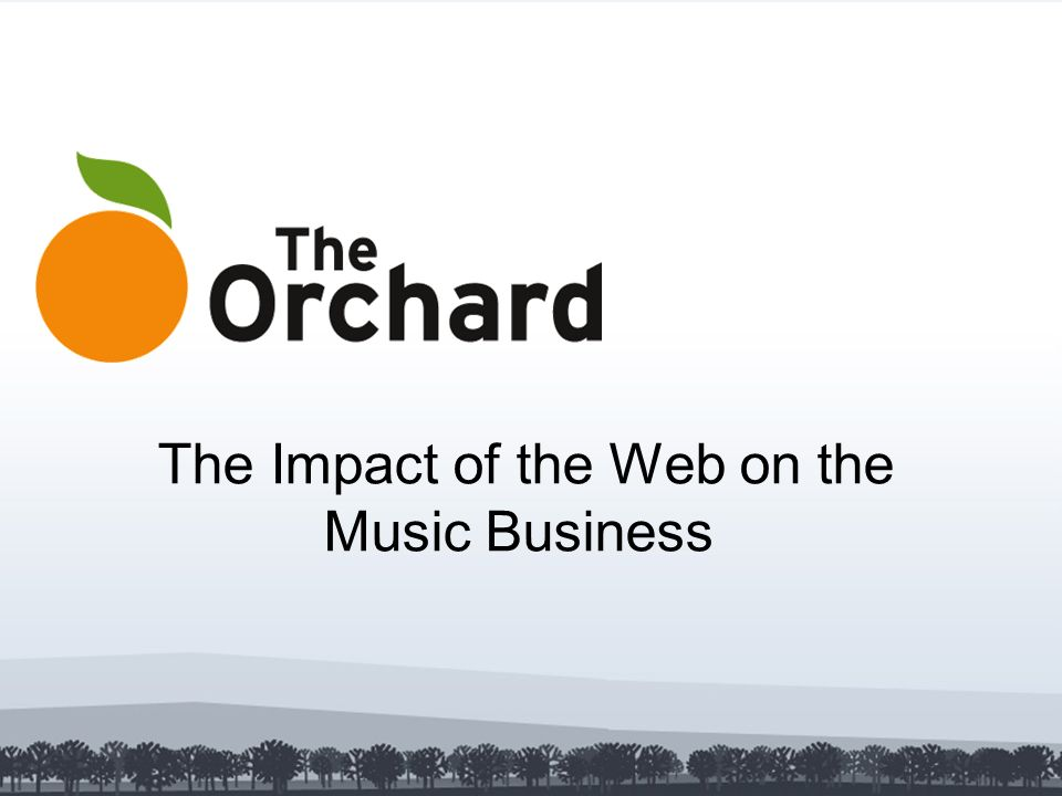 The Impact of the Web on the Music Business