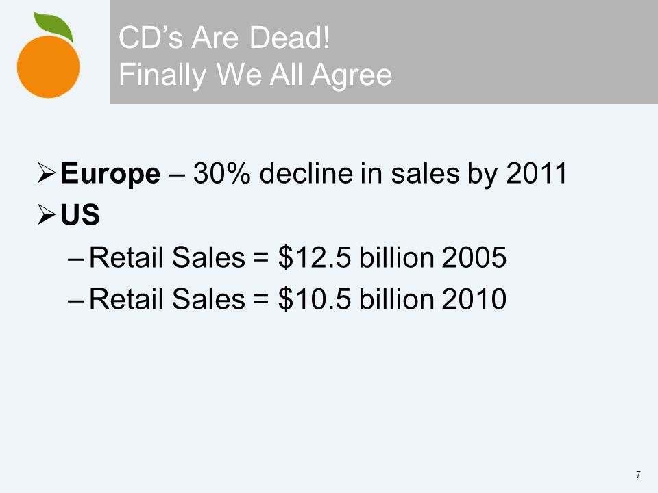 7 CDs Are Dead.