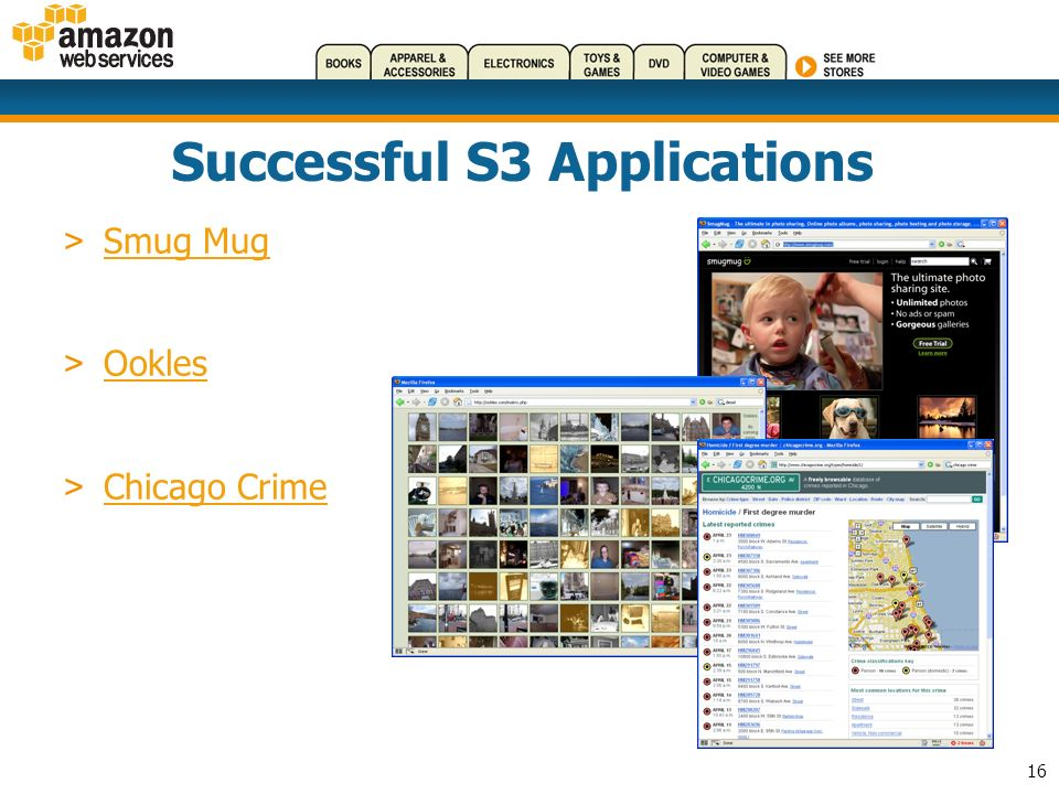 16 Successful S3 Applications > Smug Mug Smug Mug > Ookles Ookles > Chicago Crime Chicago Crime