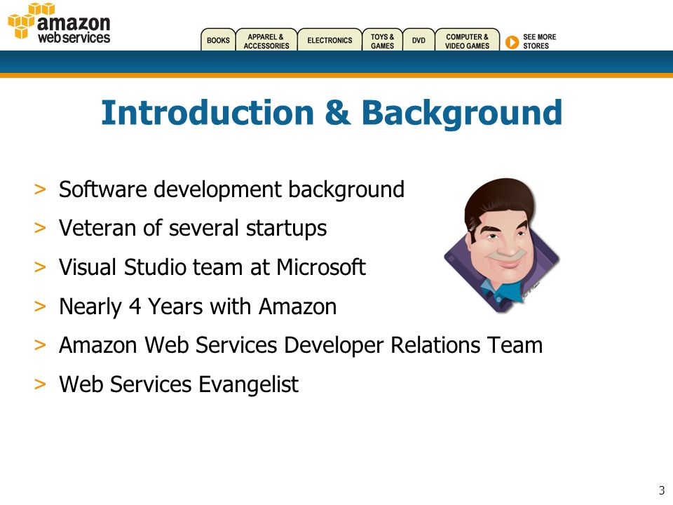 34 Getting Started With AWS > Register as a developer, get a Subscription ID (free) > Developer Portal: http://aws.amazon.comhttp://aws.amazon.com > Mechanical Turk: http://www.mturk.comhttp://www.mturk.com > AWS Blog: http://aws.typepad.comhttp://aws.typepad.com