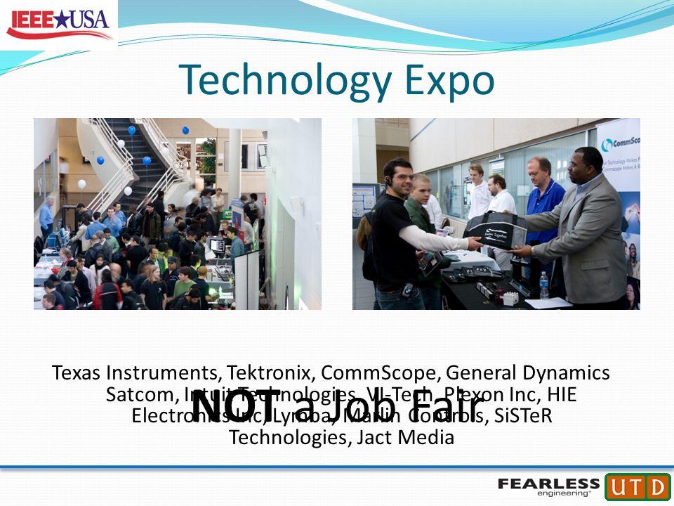 Technology Expo Texas Instruments, Tektronix, CommScope, General Dynamics Satcom, Intuit Technologies, VI-Tech, Plexon Inc, HIE Electronics Inc, Lymba