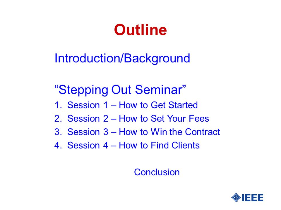 INTRODUCTION/BACKGROUND Academic and Industry Consulting-Electronics, Controls, Power Engineering Update Institute –Home- Study Video Courses for FE/PE Exams Seminars on Consulting (Consultants Consultant) Start-Up Networks