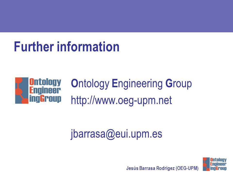 Jesús Barrasa Rodrígez (OEG-UPM) Further information O ntology E ngineering G roup http://www.oeg-upm.net jbarrasa@eui.upm.es