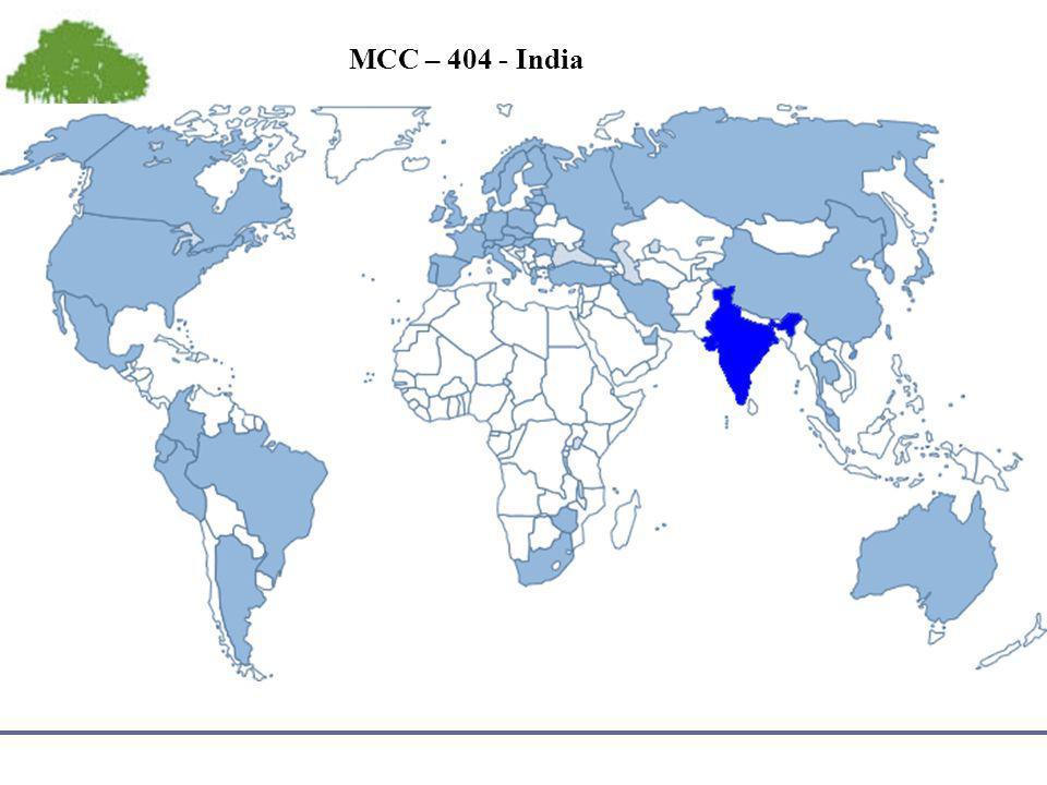 MCC – 404 - India