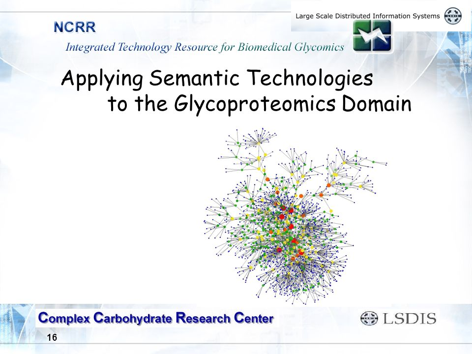 16 Applying Semantic Technologies to the Glycoproteomics Domain