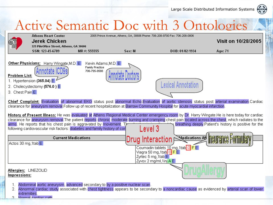 8 Active Semantic Doc with 3 Ontologies