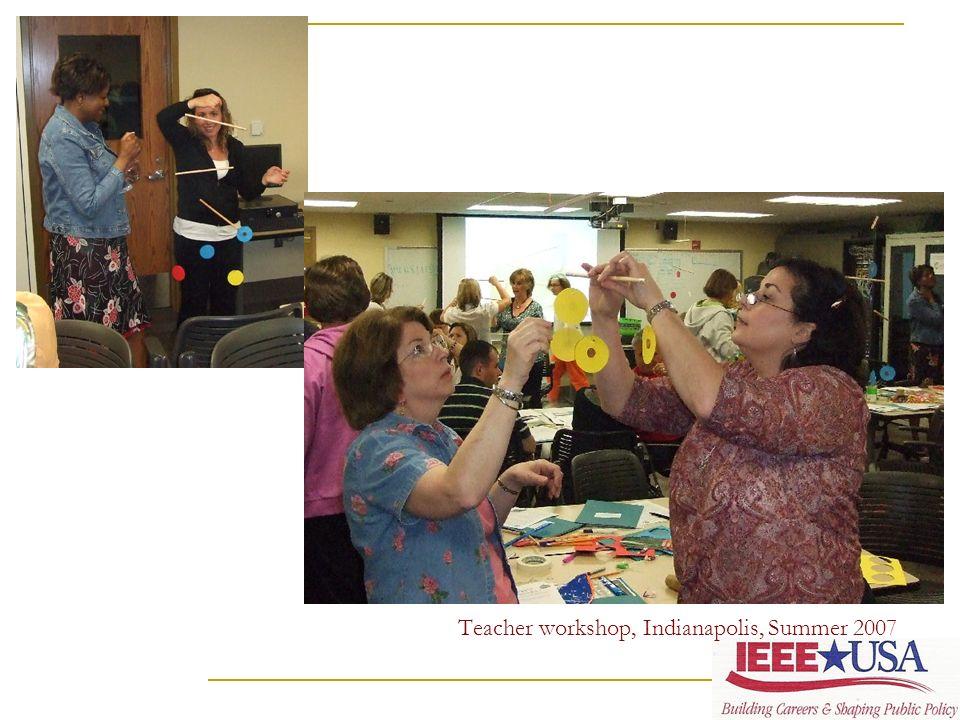 Teacher workshop, Indianapolis, Summer 2007