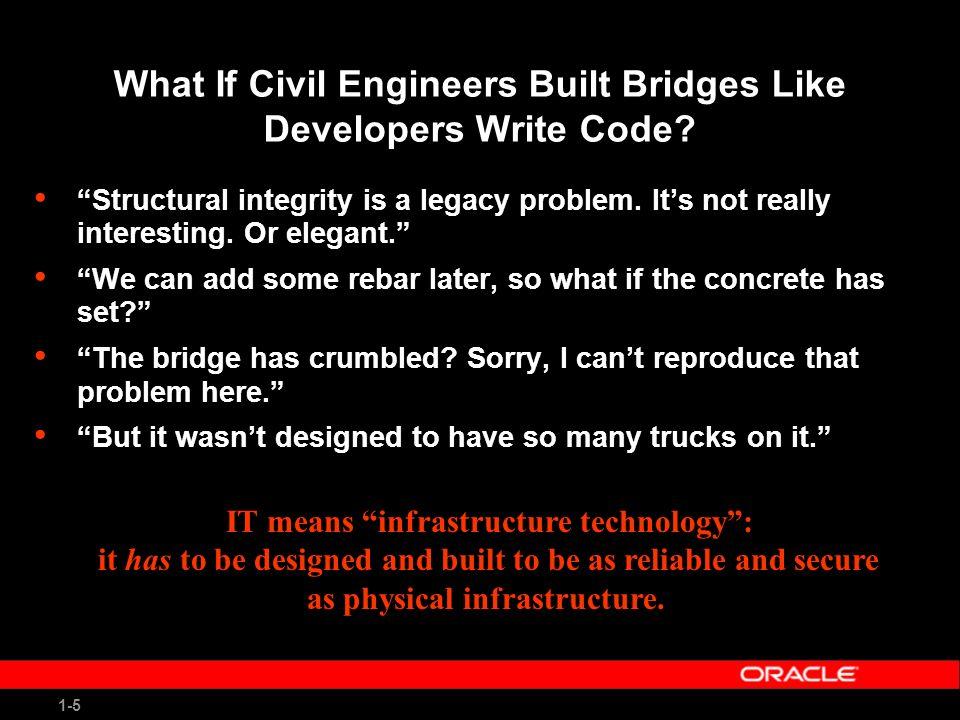 1-5 What If Civil Engineers Built Bridges Like Developers Write Code.