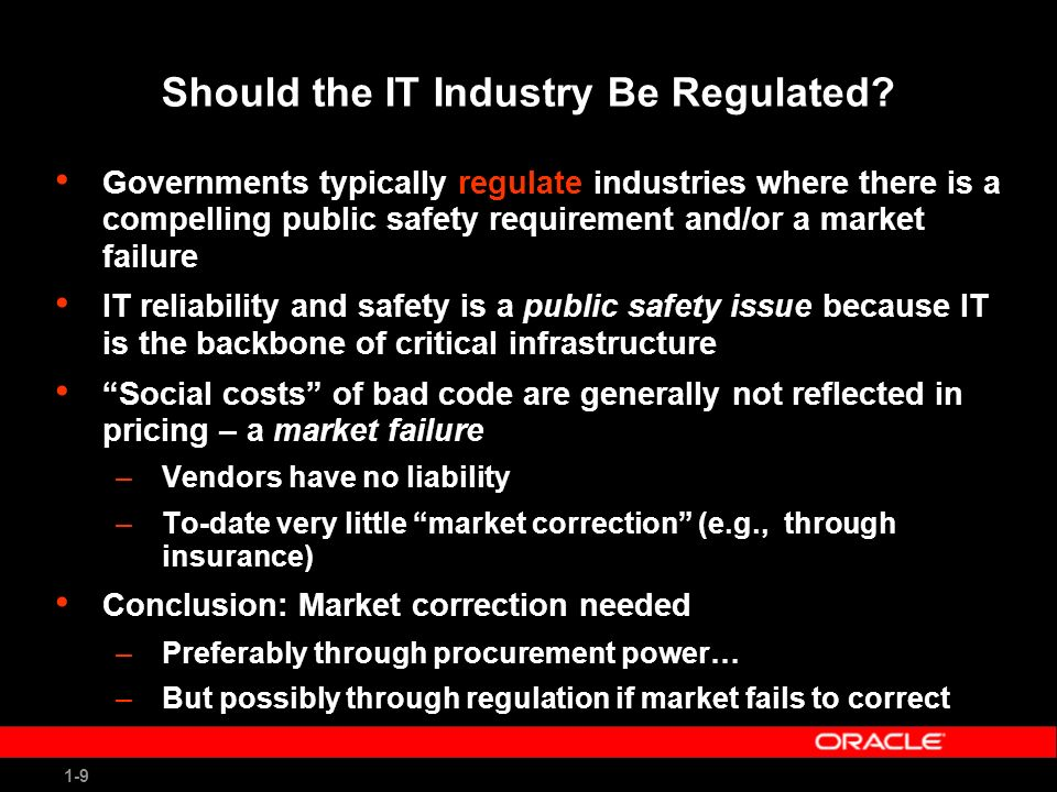 1-9 Should the IT Industry Be Regulated.