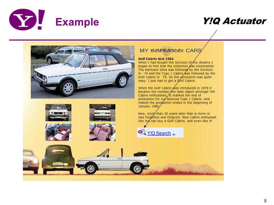 Yahoo! Confidential 8 Example Y!Q Actuator