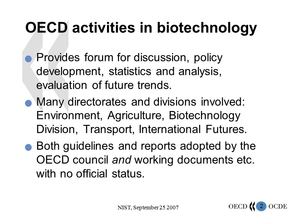13 NIST, September 25 2007 The black hole for statistics Use of biotechnological knowledge to develop new small molecule pharmaceuticals: –Target identification –Pharmacogenetics / genomics –Systems Biology