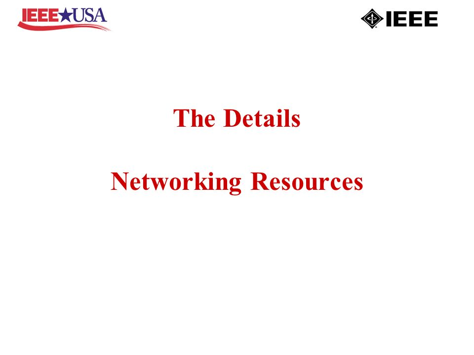 The Details Networking Resources