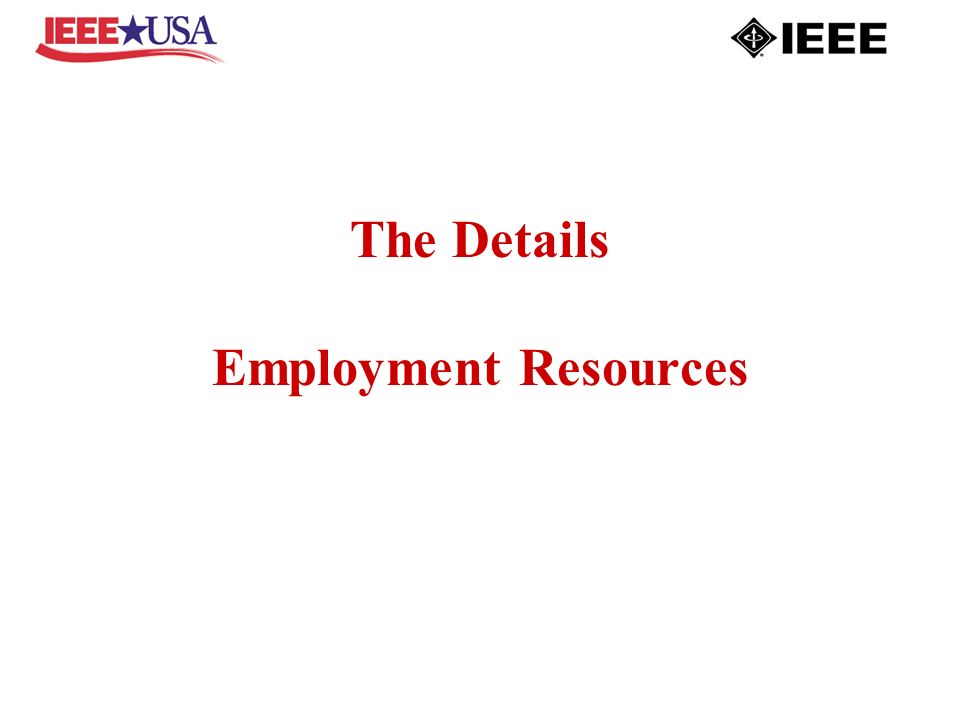 The Details Employment Resources