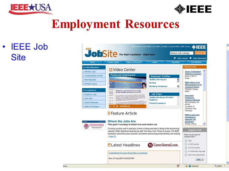 Employment Resources IEEE Job Site