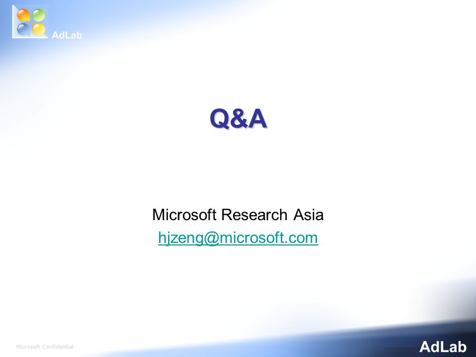 Q&A Microsoft Research Asia