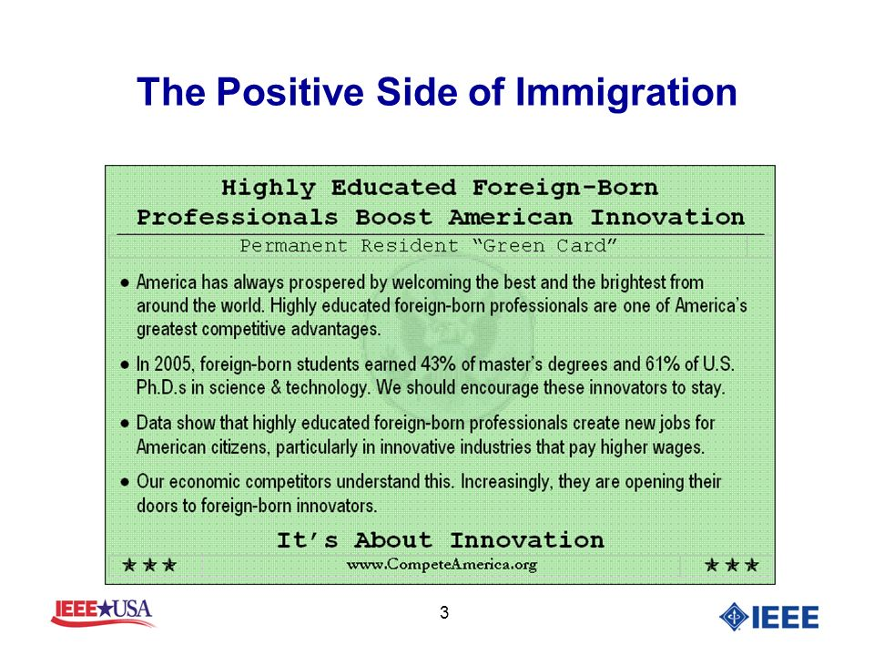 3 The Positive Side of Immigration
