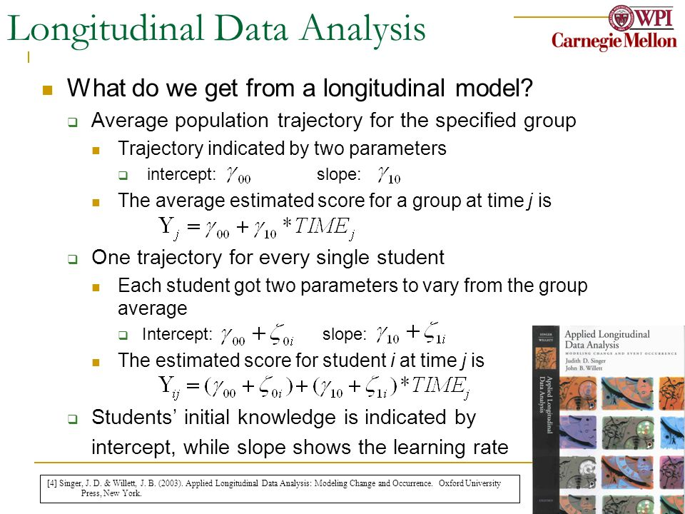 May 25 th, 2006 WWW06 11 Longitudinal Data Analysis What do we get from a longitudinal model? Average population trajectory for the specified group Tr