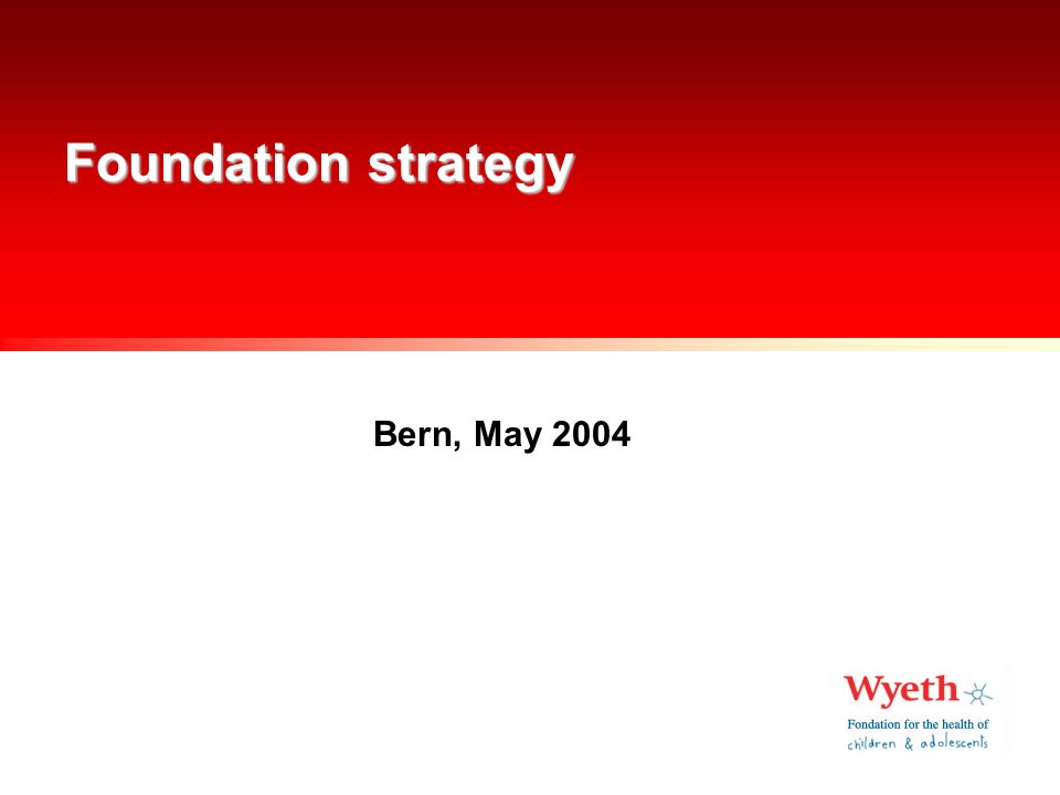 Foundation strategy elements Research axes, project portfolio Financing Communication People Systems