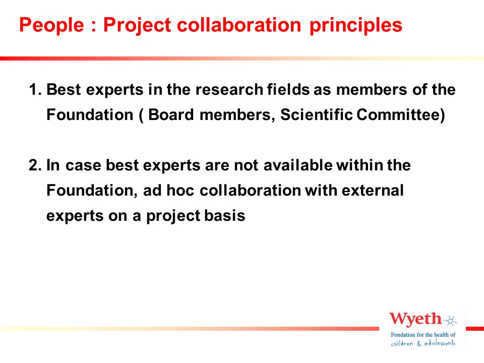 People : Project collaboration principles 1.