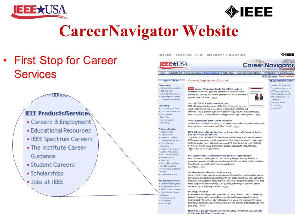 CareerNavigator Website First Stop for Career Services