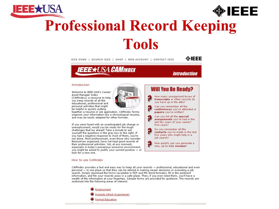 Professional Record Keeping Tools
