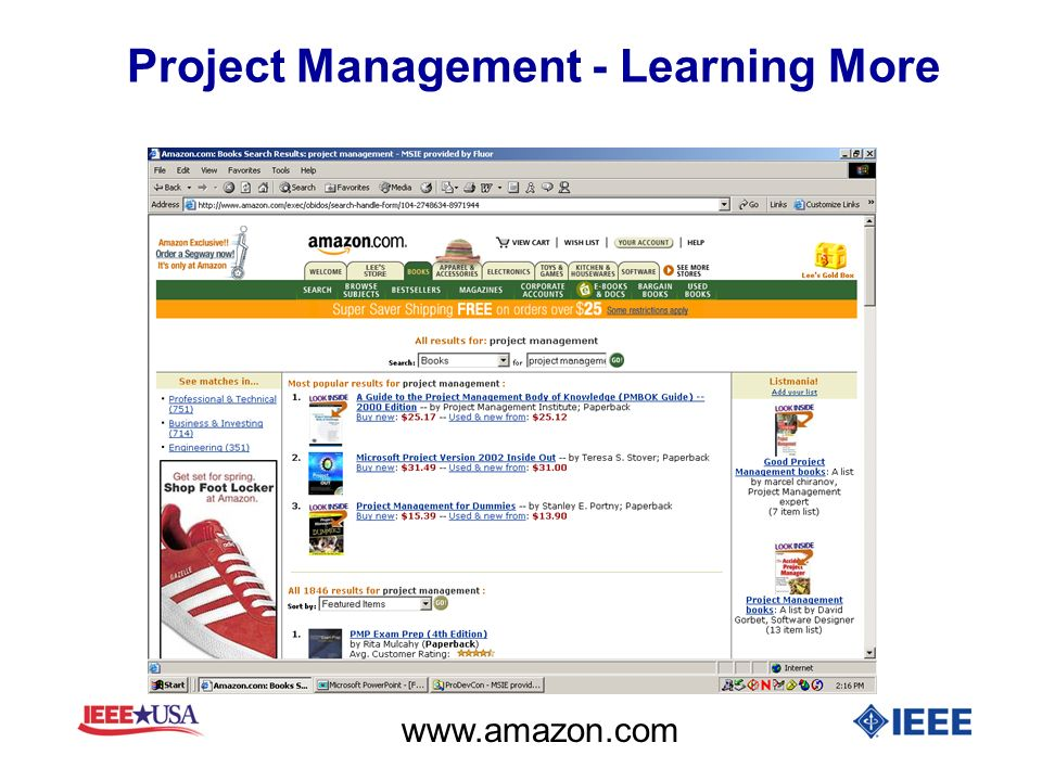 Project Management - Learning More www.amazon.com