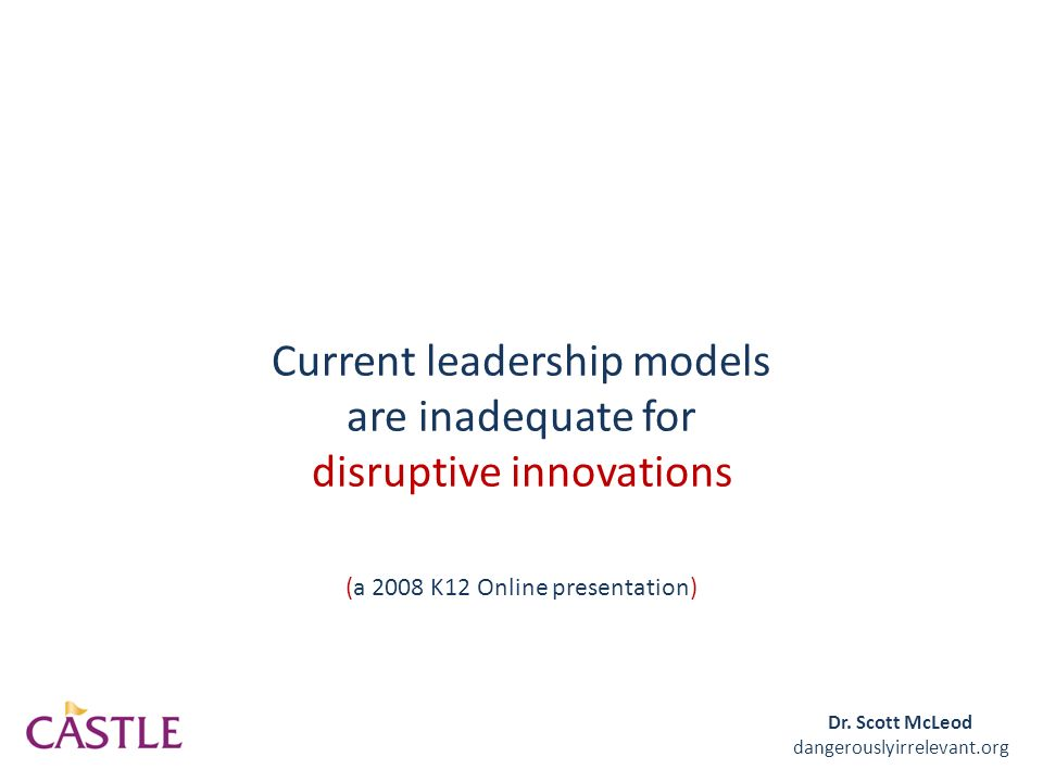 business as usual disruptive innovations