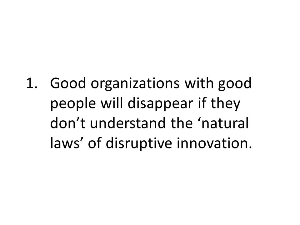 Effective leadership for disruptive innovations