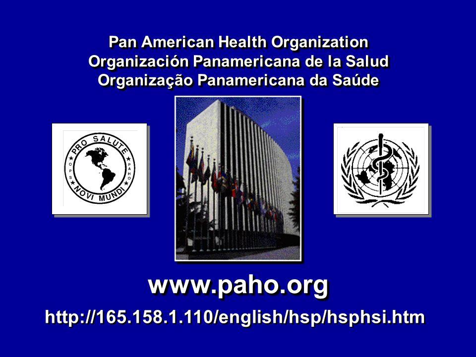 www.paho.orgwww.paho.org Pan American Health Organization Organización Panamericana de la Salud Organização Panamericana da Saúde Pan American Health