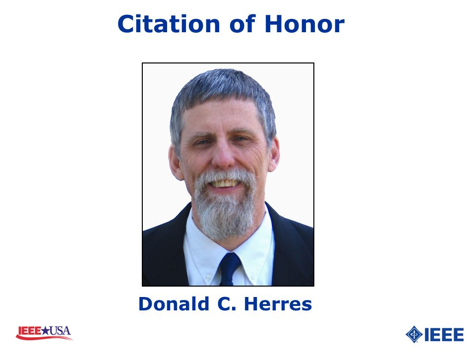 Donald C. Herres Citation of Honor