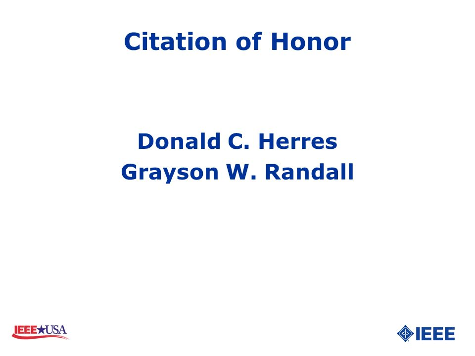 Donald C. Herres Grayson W. Randall