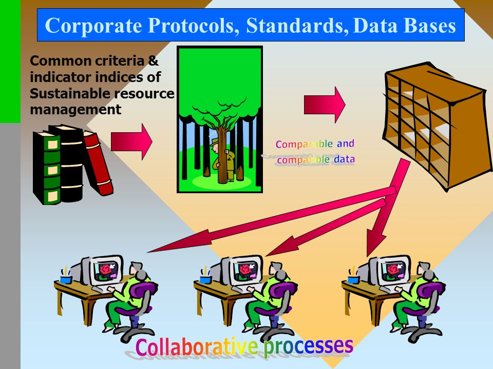 Common criteria & indicator indices of Sustainable resource management Corporate Protocols, Standards, Data Bases