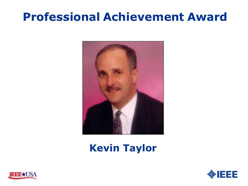 Kevin Taylor Professional Achievement Award