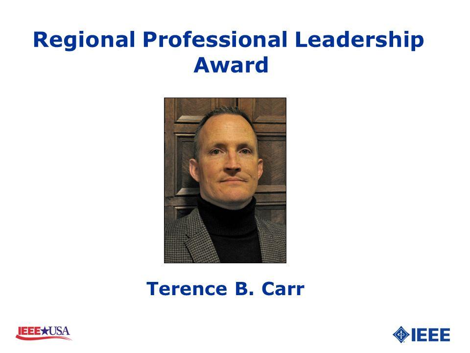 Terence B. Carr Regional Professional Leadership Award