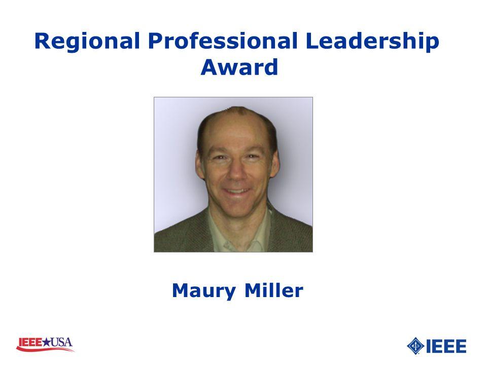 Maury Miller Regional Professional Leadership Award